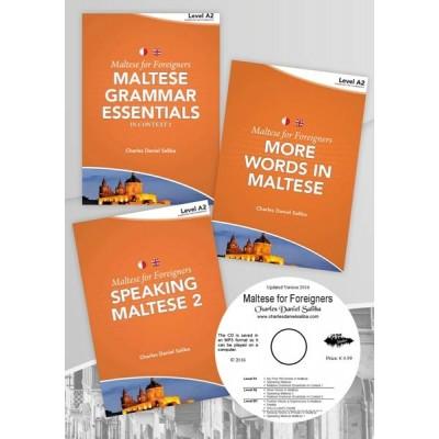 Maltese for Foreigners Level A2 Pre-intermediate (3 books+CD)