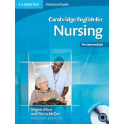 Cambridge English for Nursing Pre-intermediate Student's Book with Audio CD