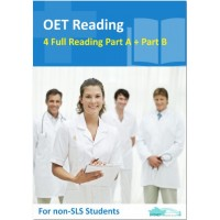 OET Reading Nurse - 4 Reading Subtest Part A and 2 Part B for Non SLS Students